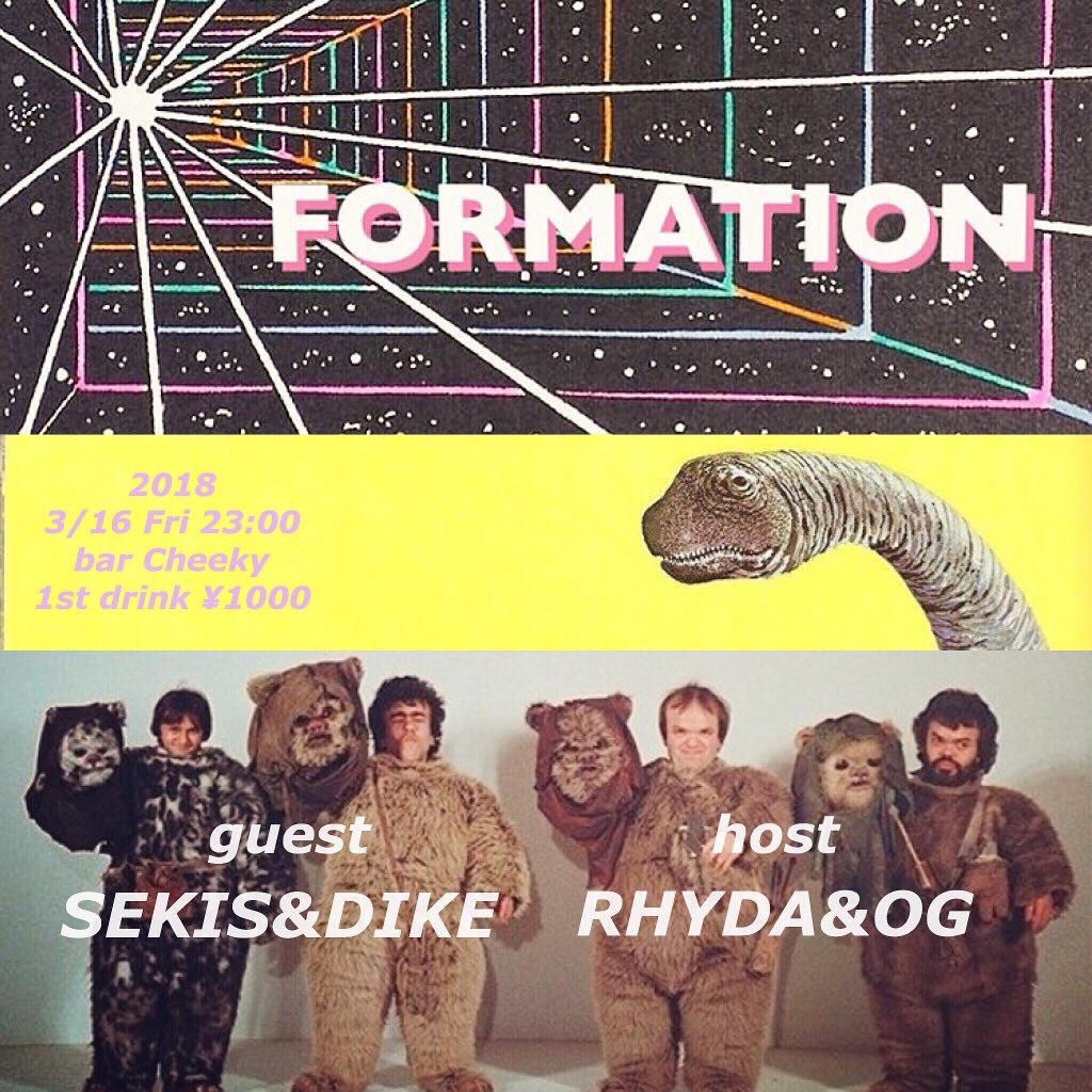 2018/3/16(金)FORMATION @bar Cheeky